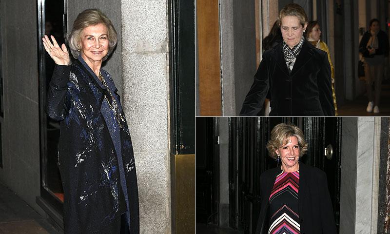 La reina Sofía no se pierde la gran fiesta por el 80 cumpleaños de la infanta Margarita