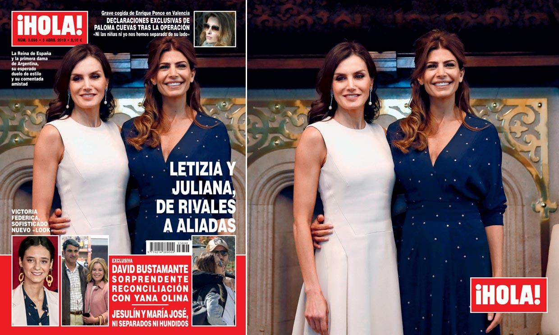 En ¡HOLA!, Letizia y Juliana, de rivales a aliadas
