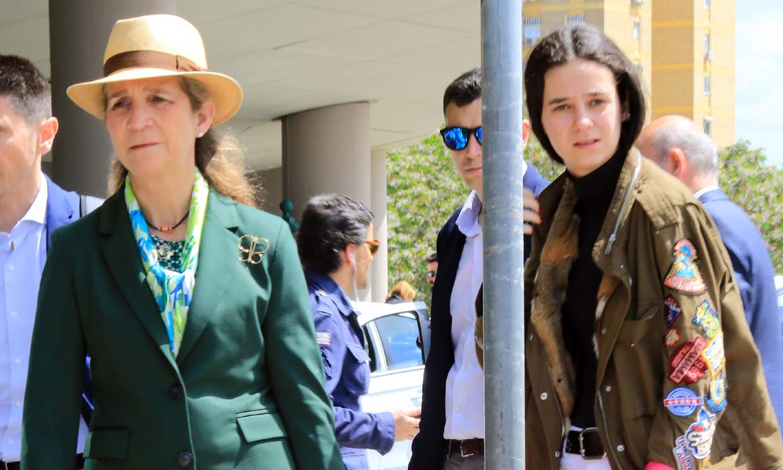 La infanta Elena y su hija adelantan la Semana Santa y ponen rumbo a Sevilla
