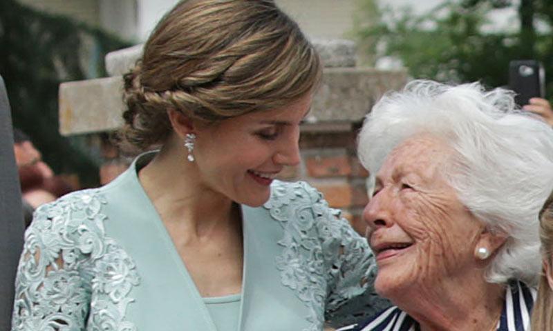 Menchu Álvarez, la abuela de Doña Letizia, recibe un premio en Asturias