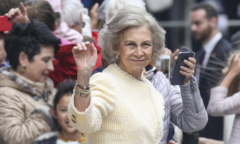 Doña Sofía, incondicional de la cita de Palma pese a la ausencia de Don Juan Carlos