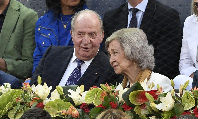 Don Juan Carlos y doña Sofía, juntos de nuevo para animar a Rafa Nadal