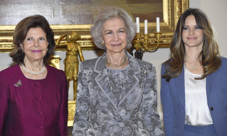 Cumbre real: la reina Sofía, la princesa Takamado y Silvia y Sofía de Suecia se reúnen en Estocolmo