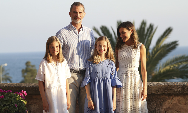 Los Reyes y sus hijas comienzan sus vacaciones en Mallorca