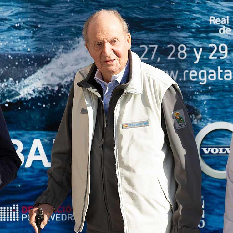 El Rey Juan Carlos reaparece en Sanxenxo: 'Me encuentro bárbaro y con ganas de meterme en el barco'