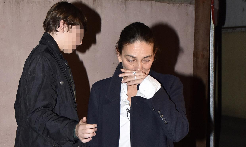Laura Ponte, rota de dolor en la capilla ardiente de la infanta Pilar