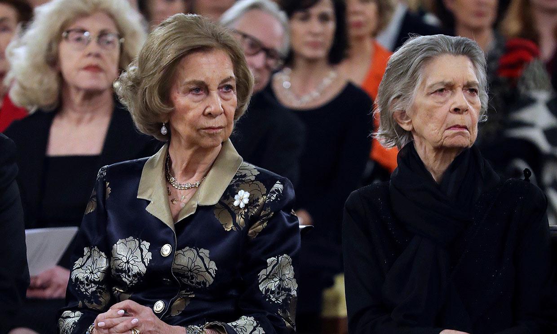 Música y poemas… La emotiva noche de doña Sofía y la princesa Irene en el Palacio Real antes del funeral de la infanta Pilar