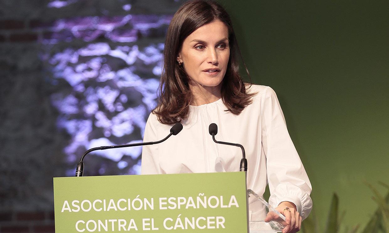 Doña Letizia en el día contra el cáncer: 'Hoy hablamos de lo que verdaderamente importa'