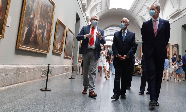 El Rey y el presidente de Portugal, dos visitantes más en el Museo del Prado