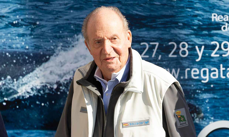 La regata Rey Juan Carlos se celebra este año sin su presencia en Sanxenxo