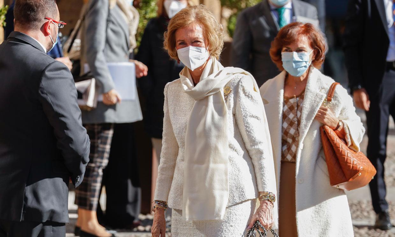 La reina Sofía ya está en Oviedo, donde disfruta de una de sus citas más emocionantes