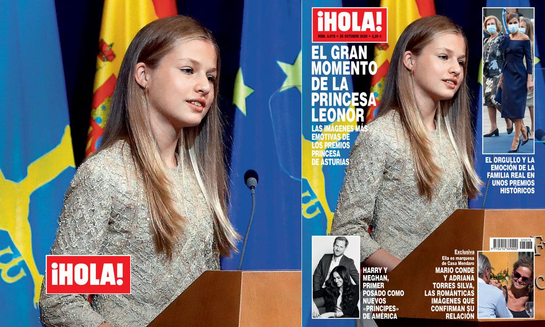 En ¡HOLA!, el gran momento de la princesa Leonor