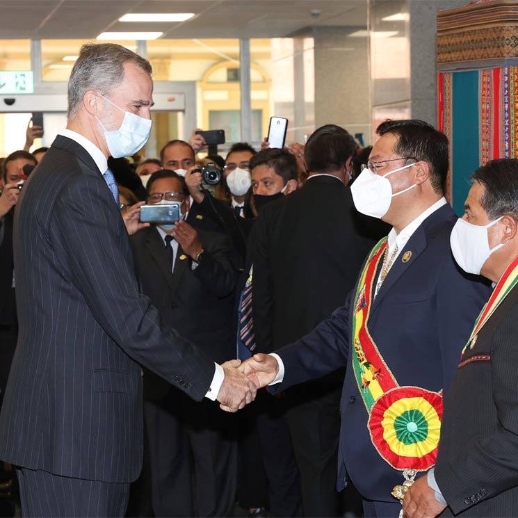 Así ha sido el viaje de Felipe VI a Bolivia para la toma de posesión del nuevo presidente del país