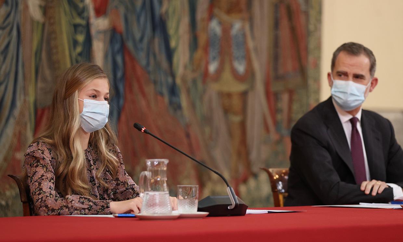Un tanto tímida y hablando en catalán, así ha sido el último discurso de la princesa Leonor