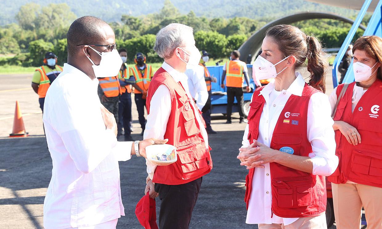 Doña Letizia aterriza en Honduras para su viaje humanitario de dos días