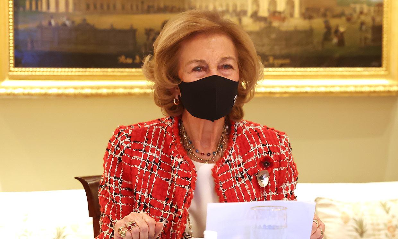 La reina Sofía retoma su agenda pública tras recibir la segunda dosis de la vacuna contra el coronavirus