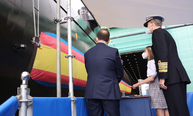 El orgullo del rey Felipe cuando Leonor ha amadrinado el submarino Isaac Peral