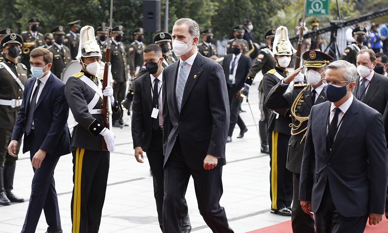 El rey Felipe asiste a la toma de posesión de Guillermo Lasso en Ecuador