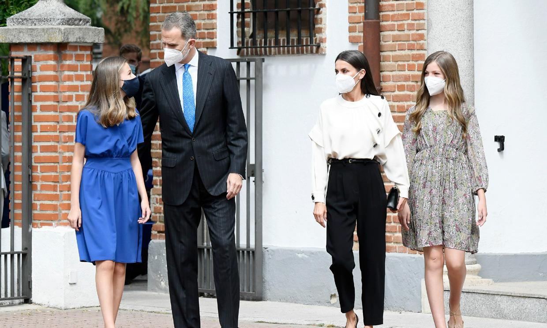 La princesa Leonor recibe la Confirmación acompañada por los Reyes y la infanta Sofía