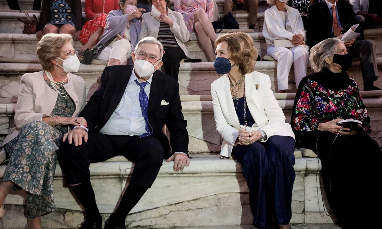 La reina Sofía, nueva cita con sus hermanos Constantino e Irene en Atenas