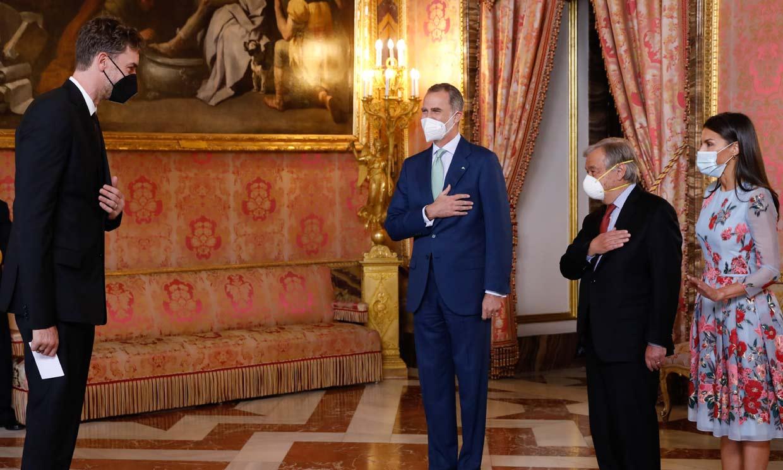 El almuerzo de los Reyes y el Secretario General de Naciones Unidas al que también ha asistido Pau Gasol