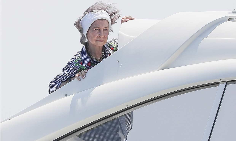 La reina Sofía llega a Palma de Mallorca para pasar las vacaciones de verano