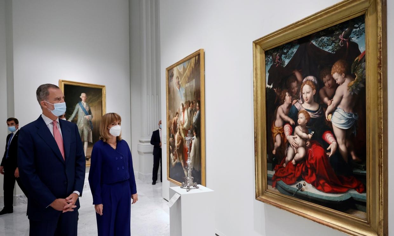 La apretada agenda del rey Felipe en apoyo del arte y de la lengua española