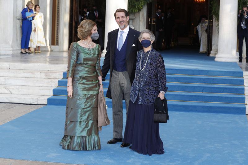 Королева София, принцесса Ирина, Павел Греческий