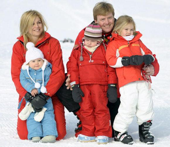 Los Orange: vacaciones familiares en la nieve