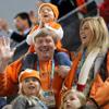 Los Príncipes de Orange y sus hijas animan a los deportistas holandeses en las Olimpiadas de Invierno de Vancouver