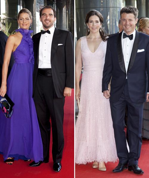 Dos de las parejas más aclamadas fueron Nicolás y Tatiana de Grecia y Federico y Mary de Dinamarca