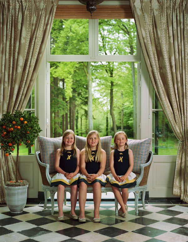 Nuevos retratos oficiales de los Reyes de Holanda en familia