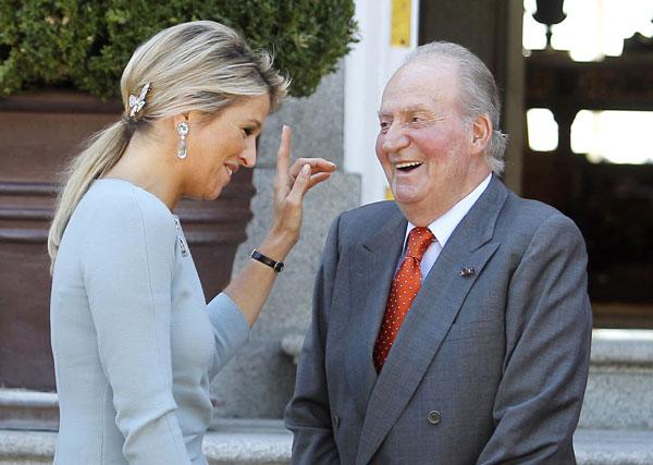 La Familia Real española se viste de 'Orange' para recibir a los Reyes de Holanda