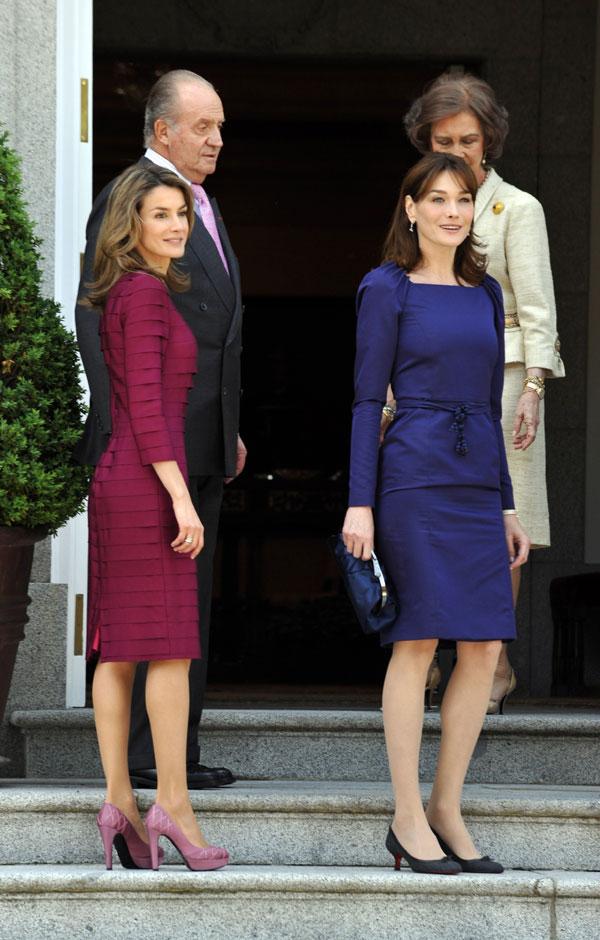 Máxima y Matilde, un 'deja vú' del encuentro entre la princesa Letizia y Carla Bruni