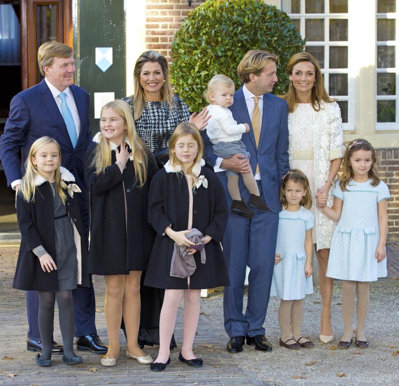 La Familia Real holandesa al completo se reúne para el bautizo del hijo de los príncipes Floris y Aimée