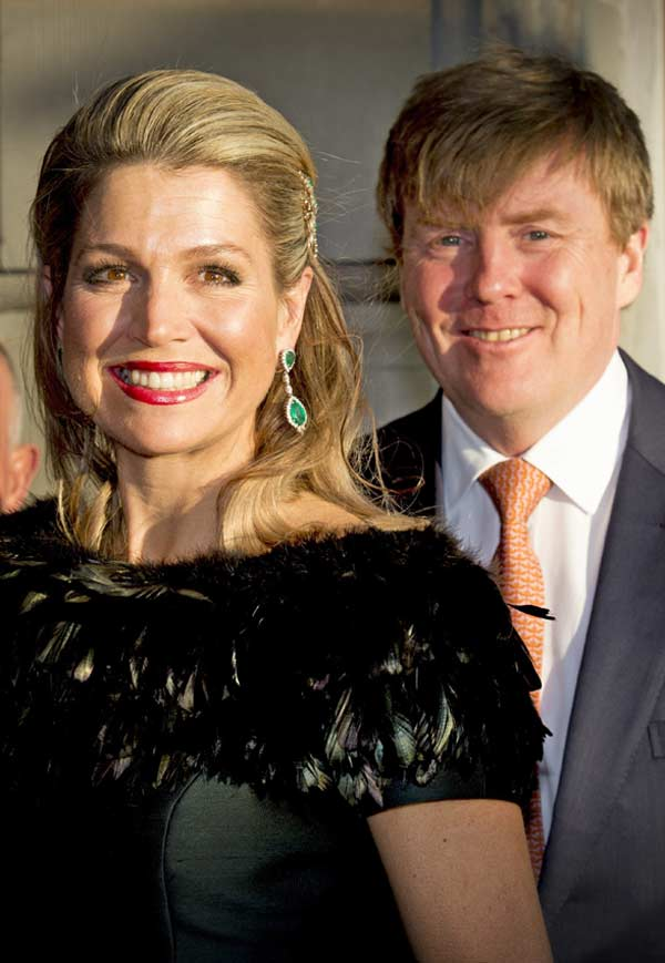 Máxima de Holanda, en la alegría y en la tristeza