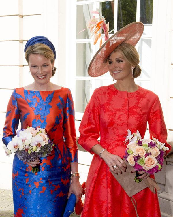 Máxima de Holanda y Matilde de Bélgica, el color de la Monarquía