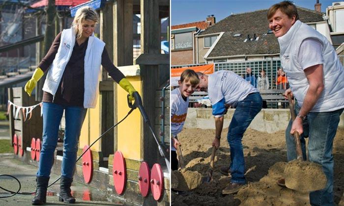 Los reyes de Holanda, manos a la obra