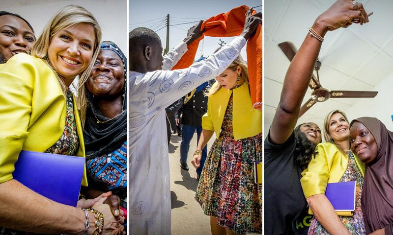 Las fotos más curiosas del viaje de Máxima de Holanda a Nigeria