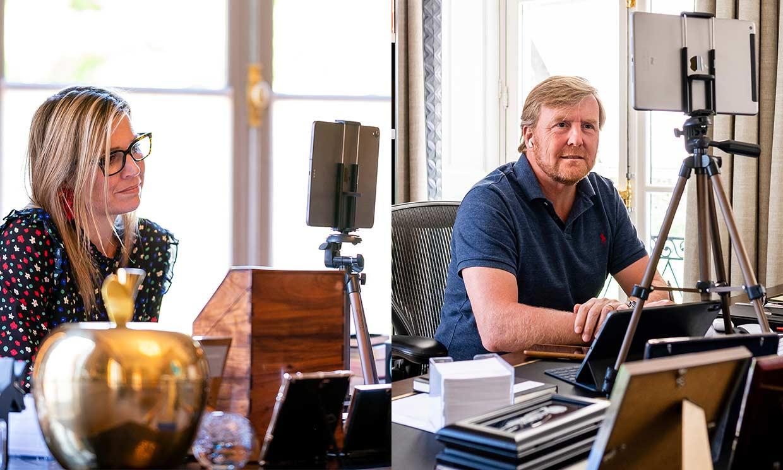 Los espectaculares despachos desde donde teletrabajan Guillermo y Máxima de Holanda