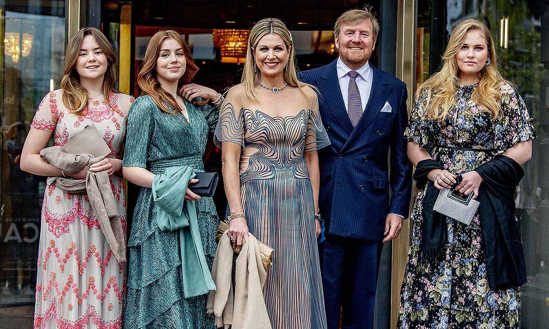 Máxima de Holanda brilla junto a su familia en el inicio de la celebración por su 50 cumpleaños