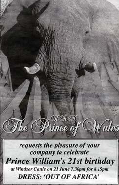 El príncipe Guillermo celebra sus 21 años al son de África