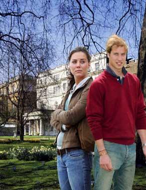 El príncipe Guillermo protege a Kate Middleton del acoso mediático