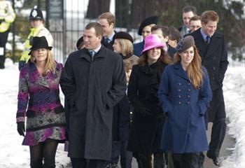 La Familia Real inglesa asiste al tradicional servicio religioso en Sandringham