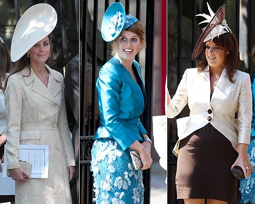La duquesa de Cambridge y las princesas Beatriz y Eugenia