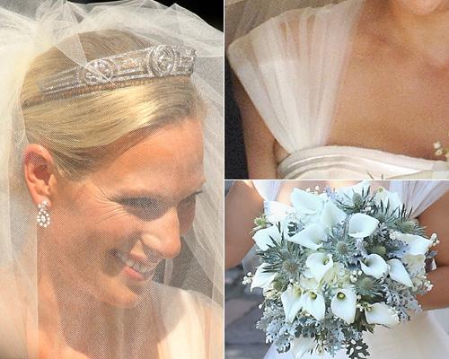 Detalles del 'look' de novia de Zara Phillips