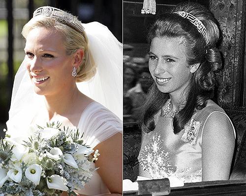 Tiara Griega en la boda de Zara Phillips