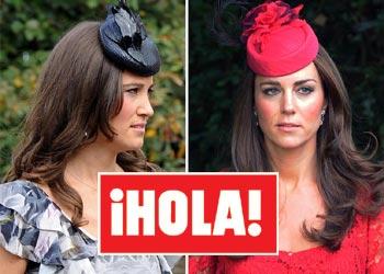 Fotografías exclusivas en ¡HOLA!: Las hermanas Kate y Pippa Middleton imponen de nuevo su estilo en una boda