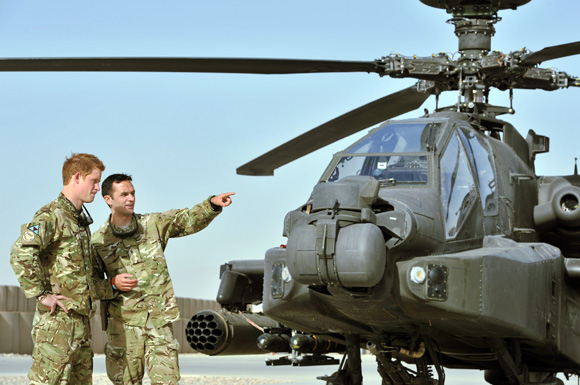 El príncipe Harry, enviado a Afganistán