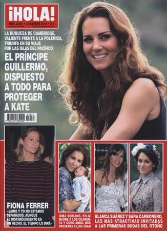En ¡HOLA!: El príncipe Guillermo, dispuesto a todo para proteger a Kate